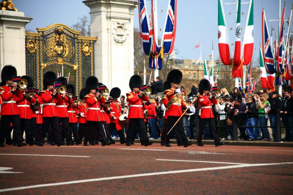 Changing of the Guard at Buckingham Palace, part of the London Highlights Tour