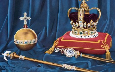 Some of the British Crown Jewels including