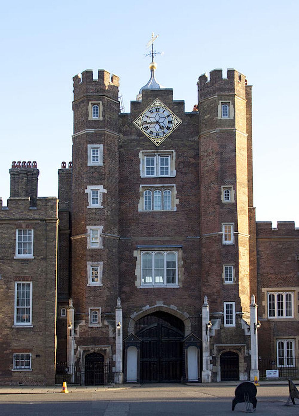 St James Palace in London. Photo Credit: © Tony Hisgett via Wikimedia Commons.