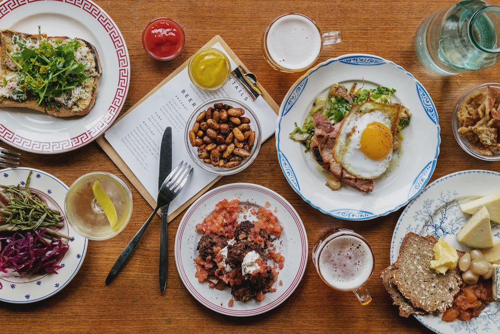 Bottomless brunch in London: Coin Laundry in Exmouth Market. Photo Credit: © Coin Laundry.