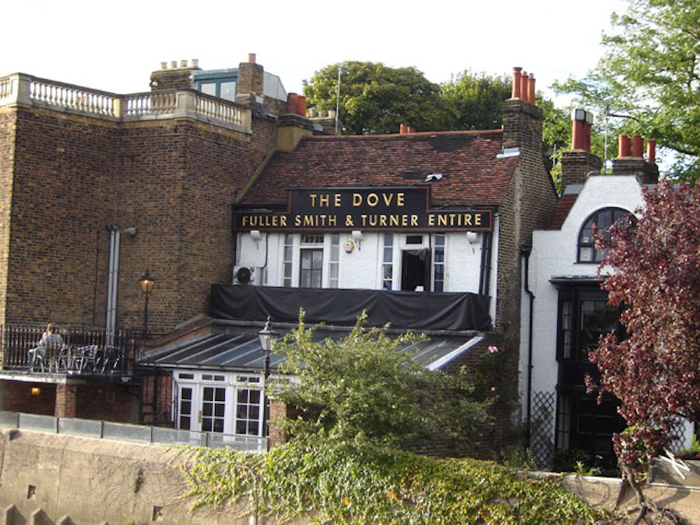 Pubs By The River Thames: The Dove Hammersmith. Photo Credit: © Tarquin Binary via Wikimedia Commons.