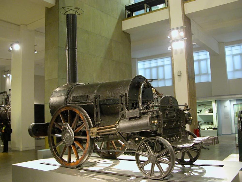 Stephenson's Rocket at the Science Museum in London. Photo Credit: © William M. Connolley via Wikimedia Commons.