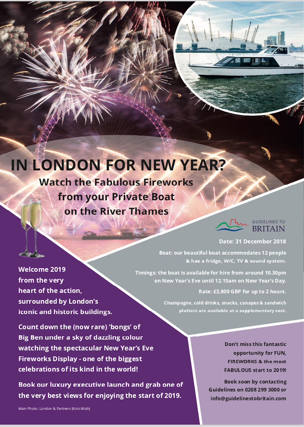 London New Year's Eve Fireworks 2018