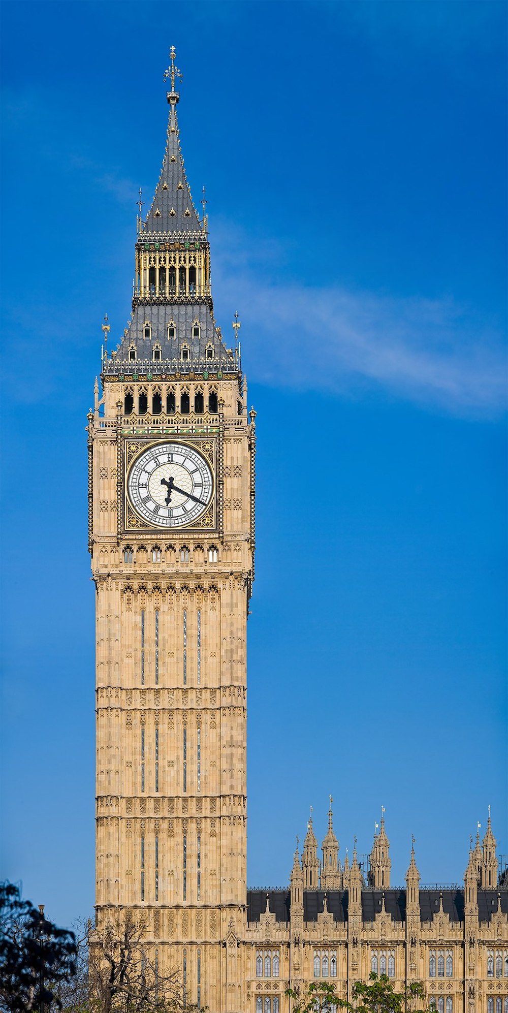 Big Ben: Clock Tower at Palace Of Westminster. Photo Credit: © David Iliff via Wikimedia Commons.
