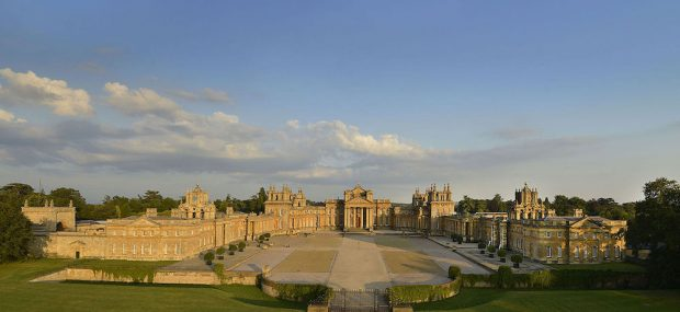 Wide angle view of Blenheim Palace. Photo Credit: © Gailf548 via Wikimedia Commons.