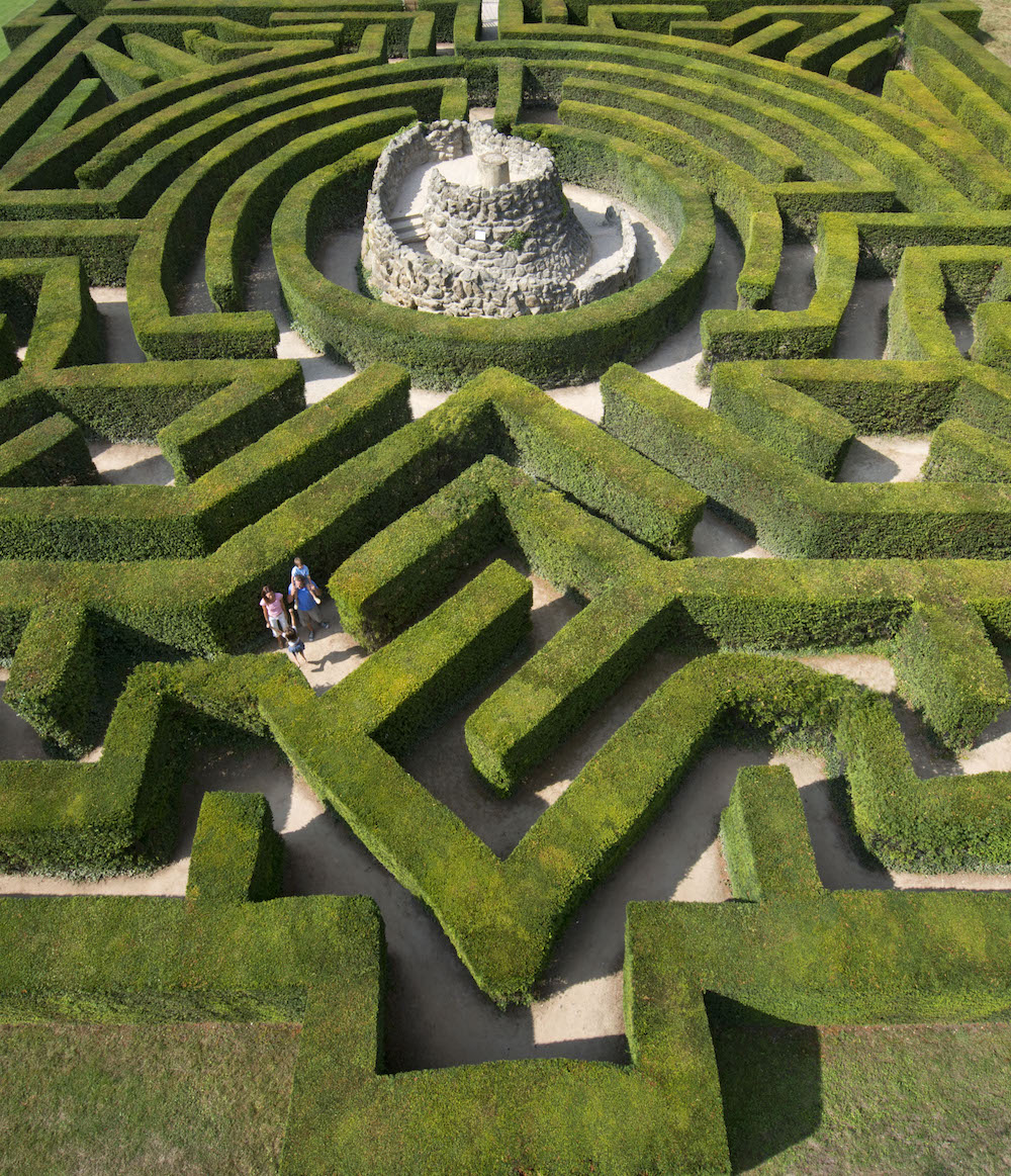 A view of the Leeds Castle Maze. Photo Credit: © Leeds Castle.