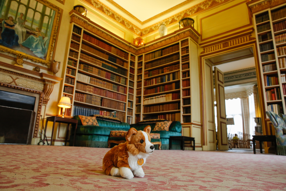 Corgi dog toy in the library at Leeds Castle. Photo Credit: © Leeds Castle.