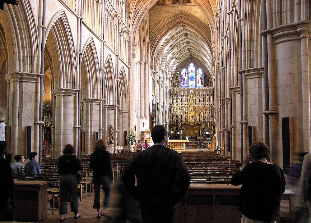 The nave of Southwark Cathedral in London. Photo Credit: © Public Domain via Wikimedia Commons.