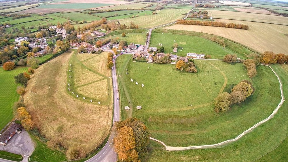UNESCO World Heritage Site: Avebury Stone Circle.  Photo Credit: Detmar Owen via Wikimedia Commons.