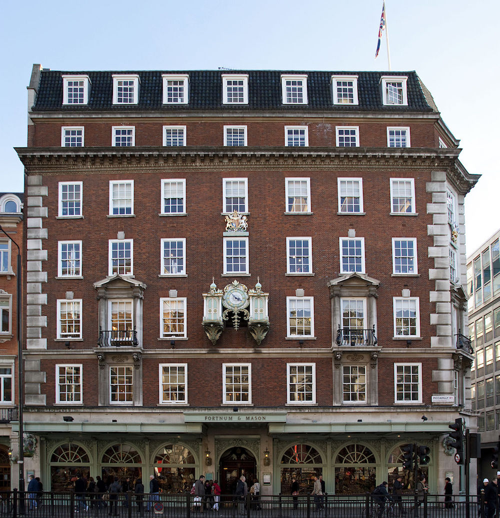 Fortnum & Mason department store in London. Photo Credit: © Tony Hisgett via Wikimedia Commons.