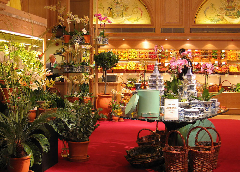 Fruit and flowers section at Fortnum & Mason department store in London. Photo Credit: © Andrew Dunn.