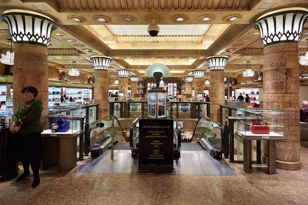 Interior view of Harrods department store in London. Photo Credit: © Andrea Hast via 123RF.