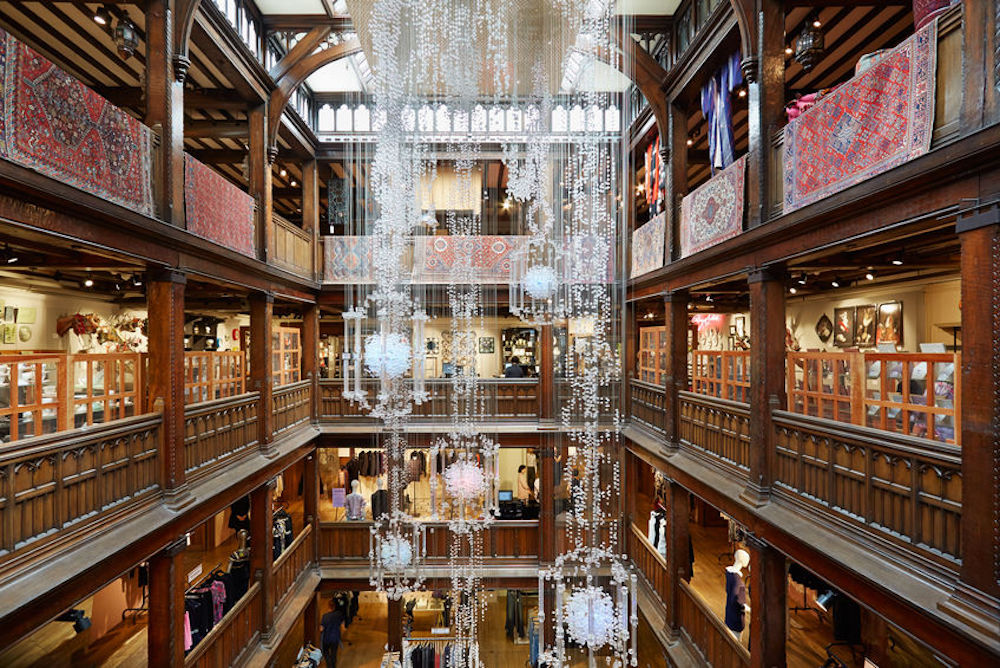 Interior view of Liberty London department store. Photo Credit: © Andrea Hast via 123RF.