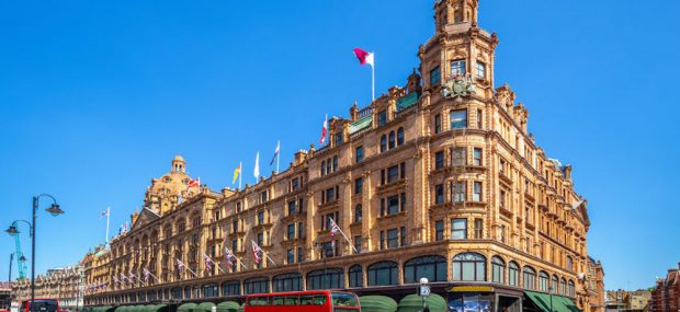 Street view of Harrods department store in London. Photo Credit: © Chan Richie via 123RF.