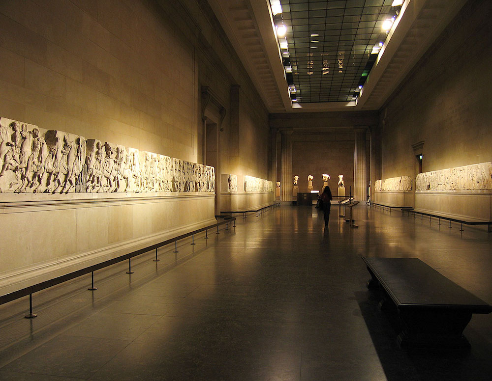 Elgin Marbles at the British Museum. Photo Credit: © Andrew Dunn via Wikimedia Commons.