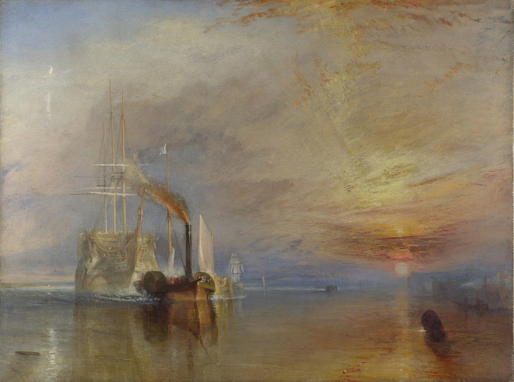 J. M. W. Turner painting The Fighting Temeraire at the National Galley in London. Photo Credit: National Gallery of Art via Wikimedia Commons.