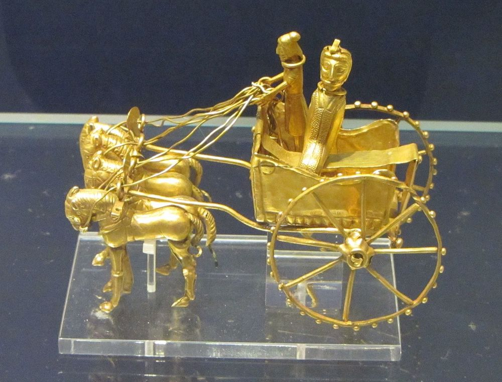 Oxus chariot model at the British Museum. Photo Credit: © Babel Stone via Wikimedia Commons.