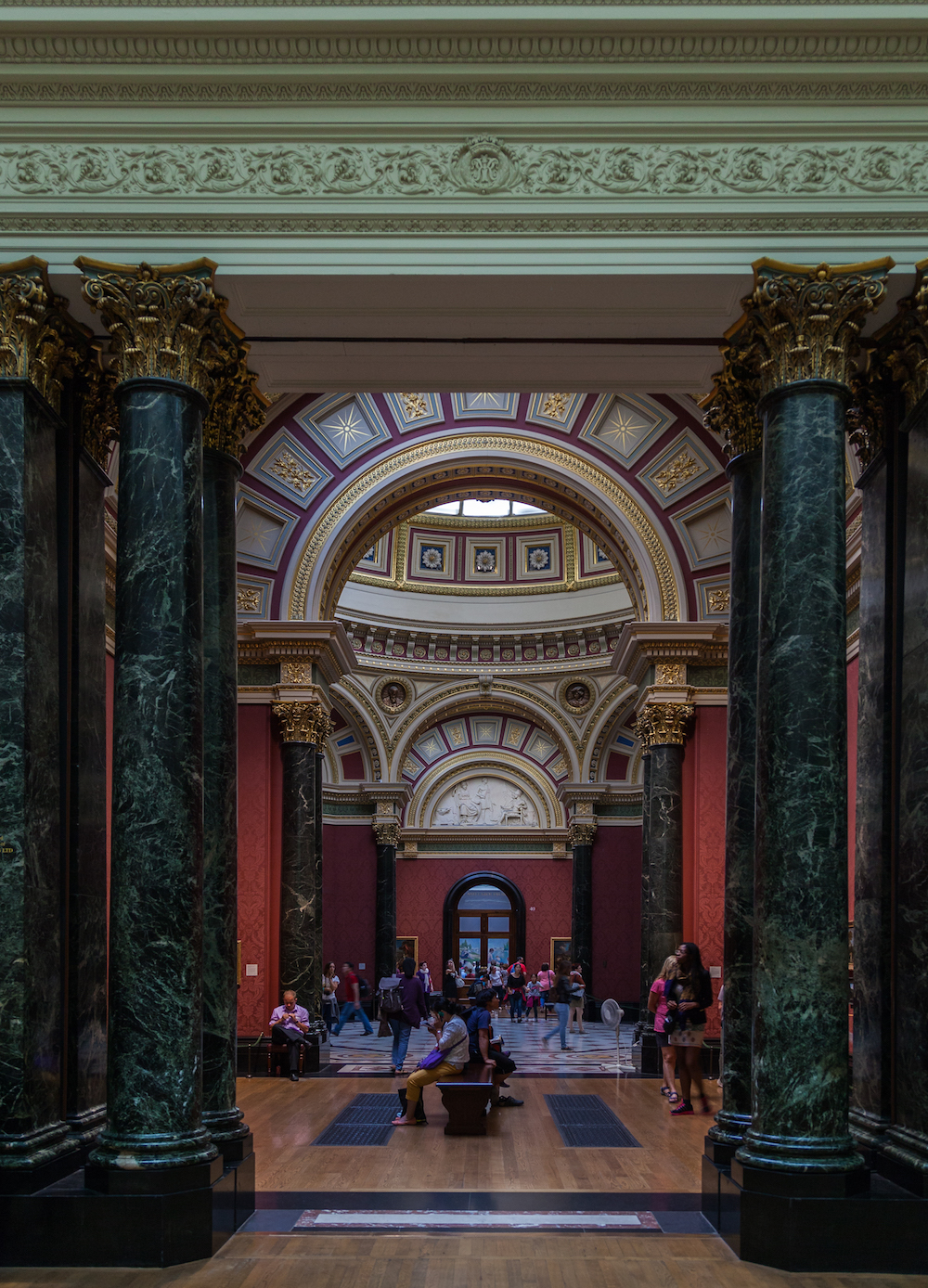 The Barry Rooms (1872–76), designed by Edward Middleton Barry at the National Gallery in London. Photo Credit: ©  Diego Delso via Wikimedia Commons.