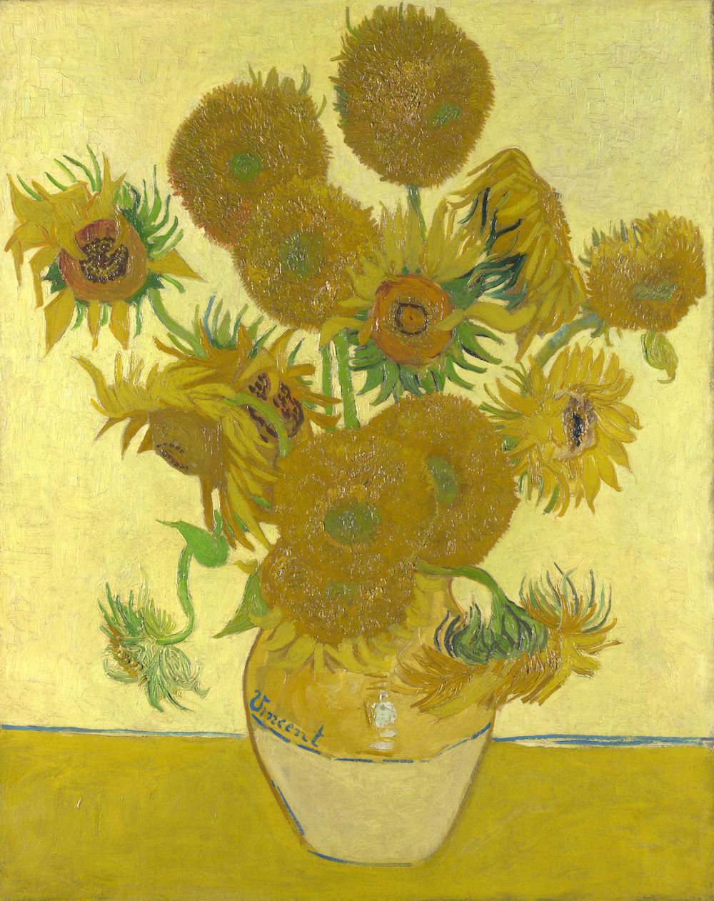 Vincent van Gogh, Sunflowers at the National Gallery in London. Photo Credit: © Public Domain via Wikimedia Commons.