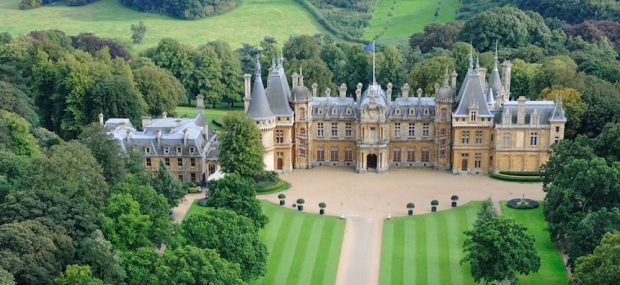 Aerial view of Waddesdon Manor from the north. Photo Credit: © John Bigelow Taylor via Wikimedia Commons.