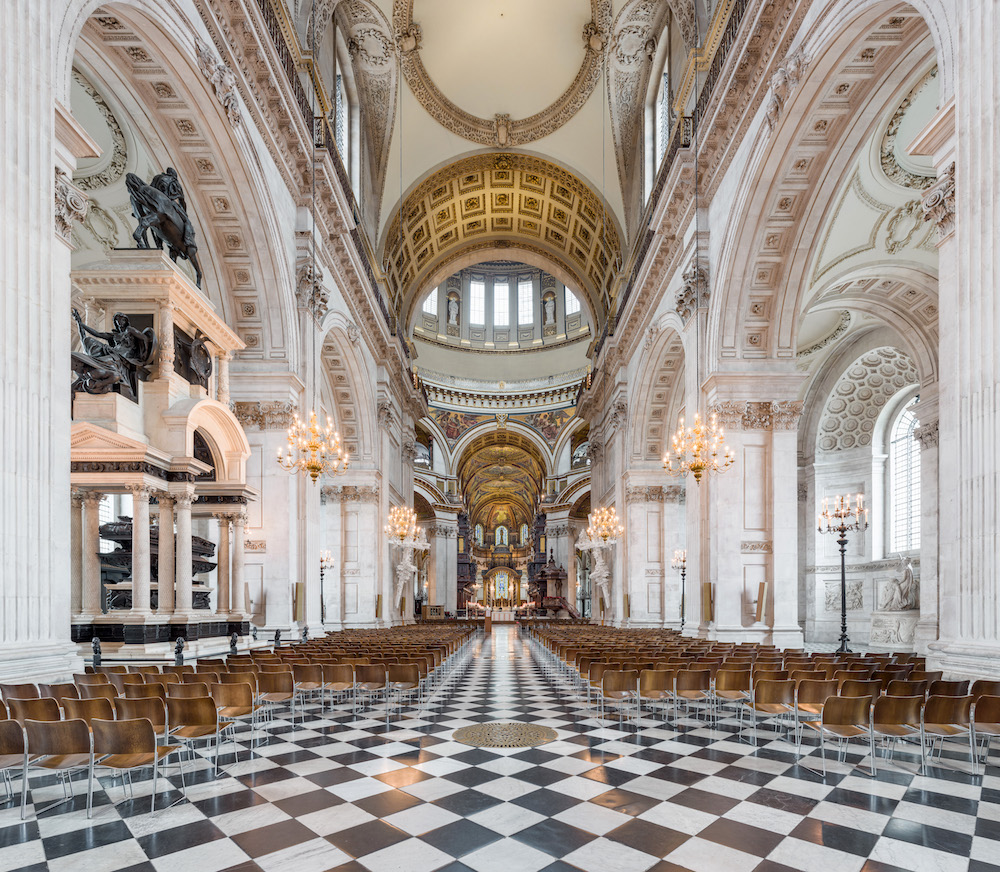The nave at St Paul's Cathedral looking towards the choir.  Photo Credit: © Diliff  via Wikimedia Commons.