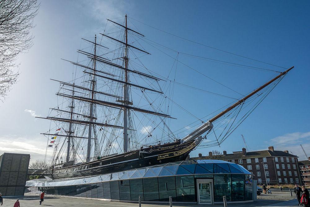 Cutty Sark a British clipper ship based in Greenwich, London.  Photo Credit: ©  AuthorKrzysztof Belczyński via Wikimedia Commons.